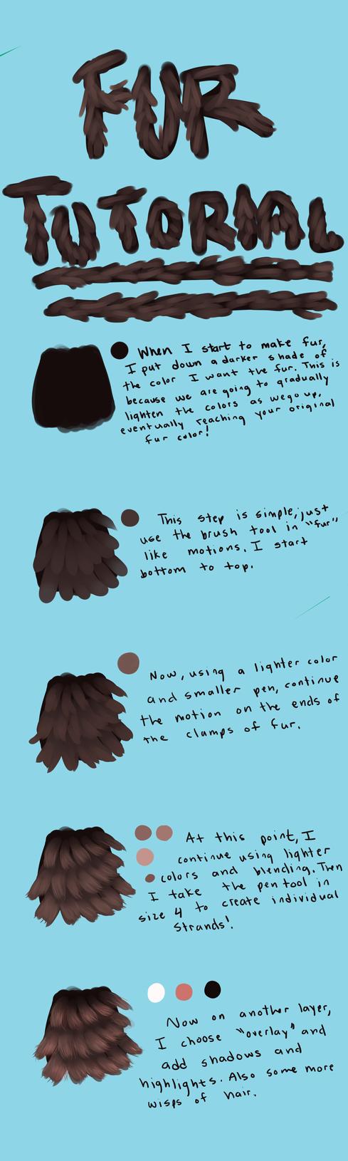 Paint Tool Sai Fur Tutorial by WEHRWOOF