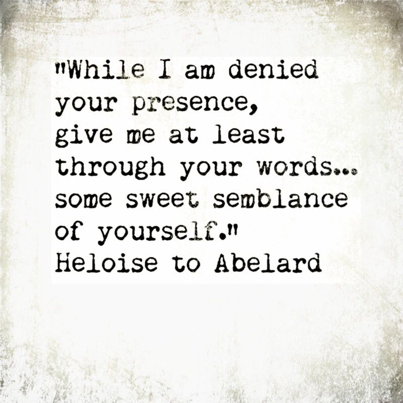 Heloise To Abelard 12th Century One Of The Most Celebrated
