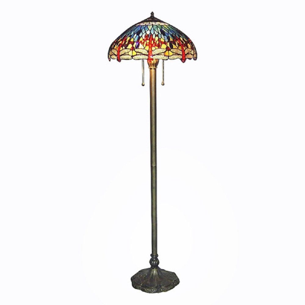 Tiffany Floor Lamp Prepossessing Tiffany Style Stained Glass Floor Lamp  Dragonfly  Lighting Review
