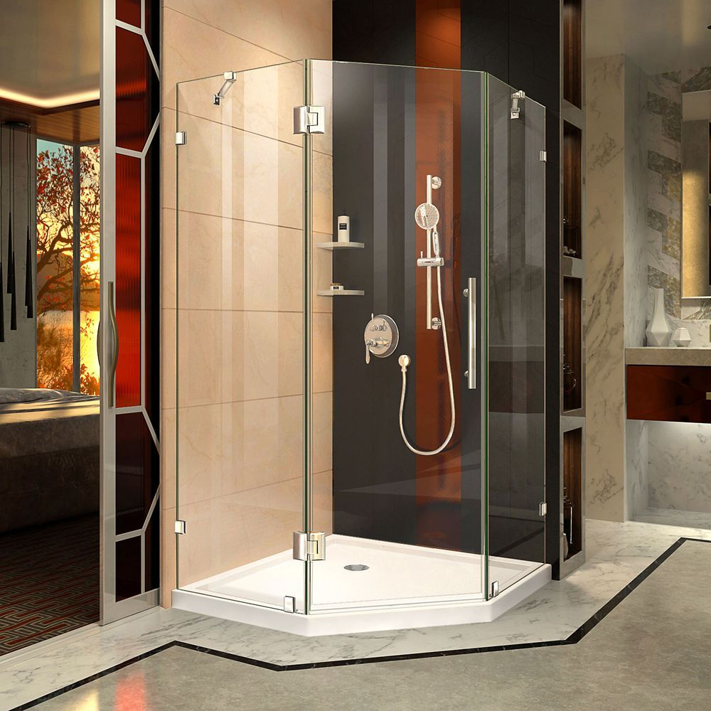Prism Lux 40 Inch D X 40 Inch W Shower Enclosure In Chrome With