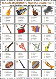 Musical Instruments ESL Printable Worksheets and Exercises #musicalinstruments