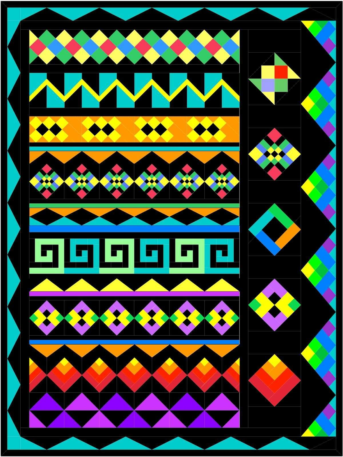Seminole Sampler Block Of The Month Quilts Seminole Patchwork Patchwork Patterns