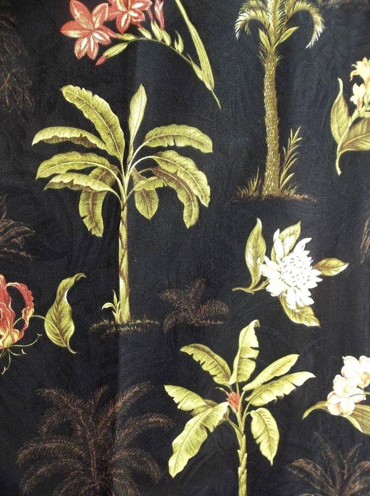 Barkcloth Curtains Picnic Scence