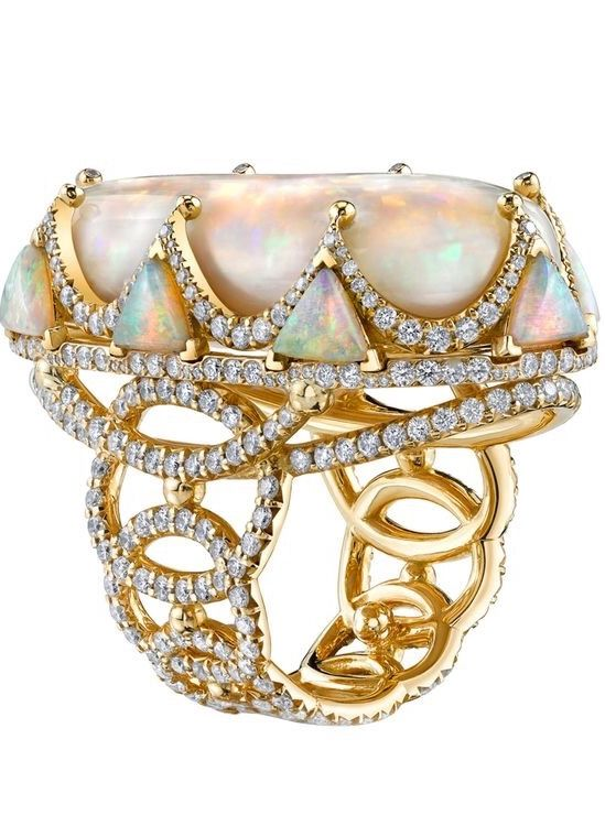 Erica Courtney opal and diamond ring.