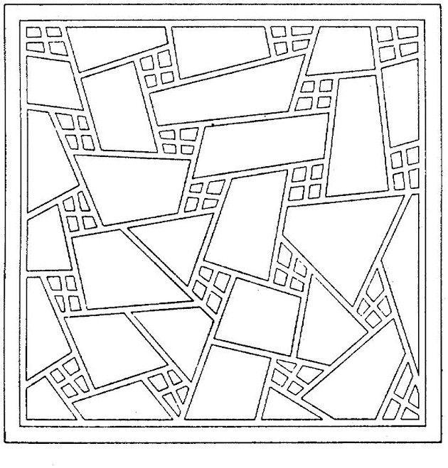 Geometric Shapes Coloring Page Geometric Coloring Pages Pattern Coloring Pages Geometric Shapes Art