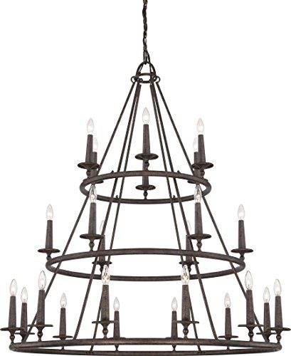 Quoizel VYR5024ML Voyager with Malaga Finish,  Three Tier Chandelier and 24 Lights,  Brown Quoizel http://www.amazon.com/dp/B00HLX5F0Y/ref=cm_sw_r_pi_dp_60BNwb0PNB2GN