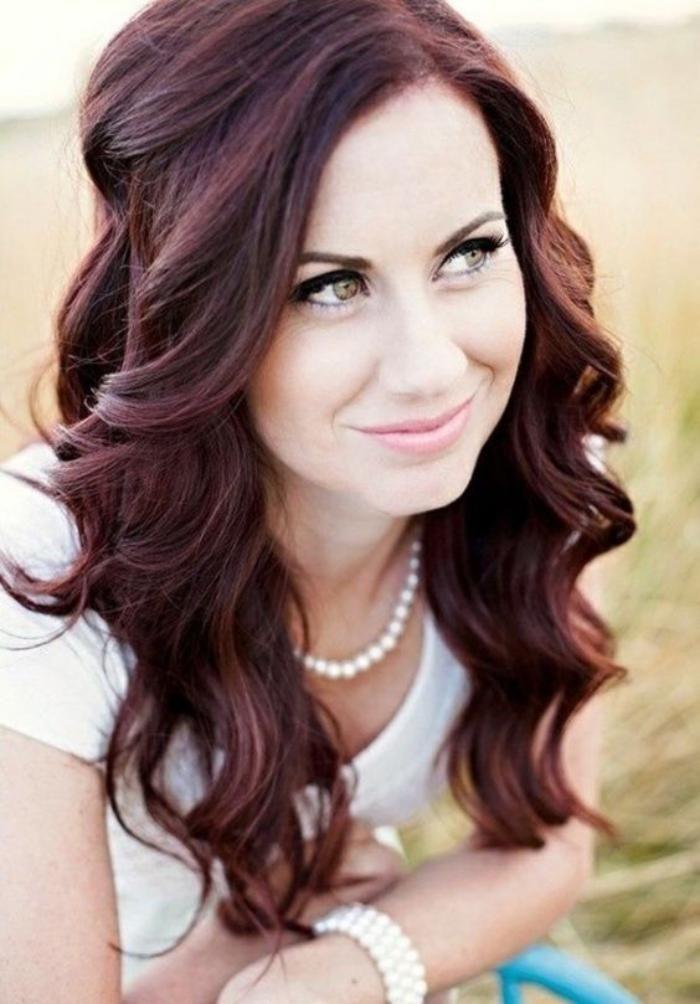 teinture acajou cheveux chatains acajou - Coloration Chatain Auburn