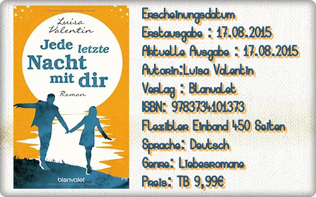 """Leserattes Bücherwelt: [Rezension] """"Jede letzte Nacht mit dir"""" Luisa Vale..."""