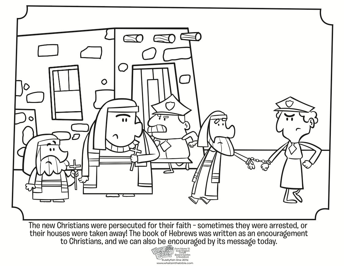 Letter To The Hebrews Coloring Page