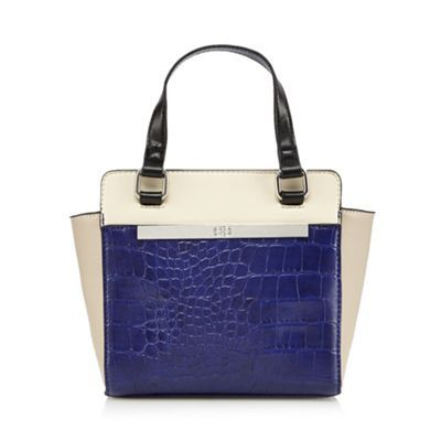 The Collection Purple croc detail winged grab bag- | Debenhams