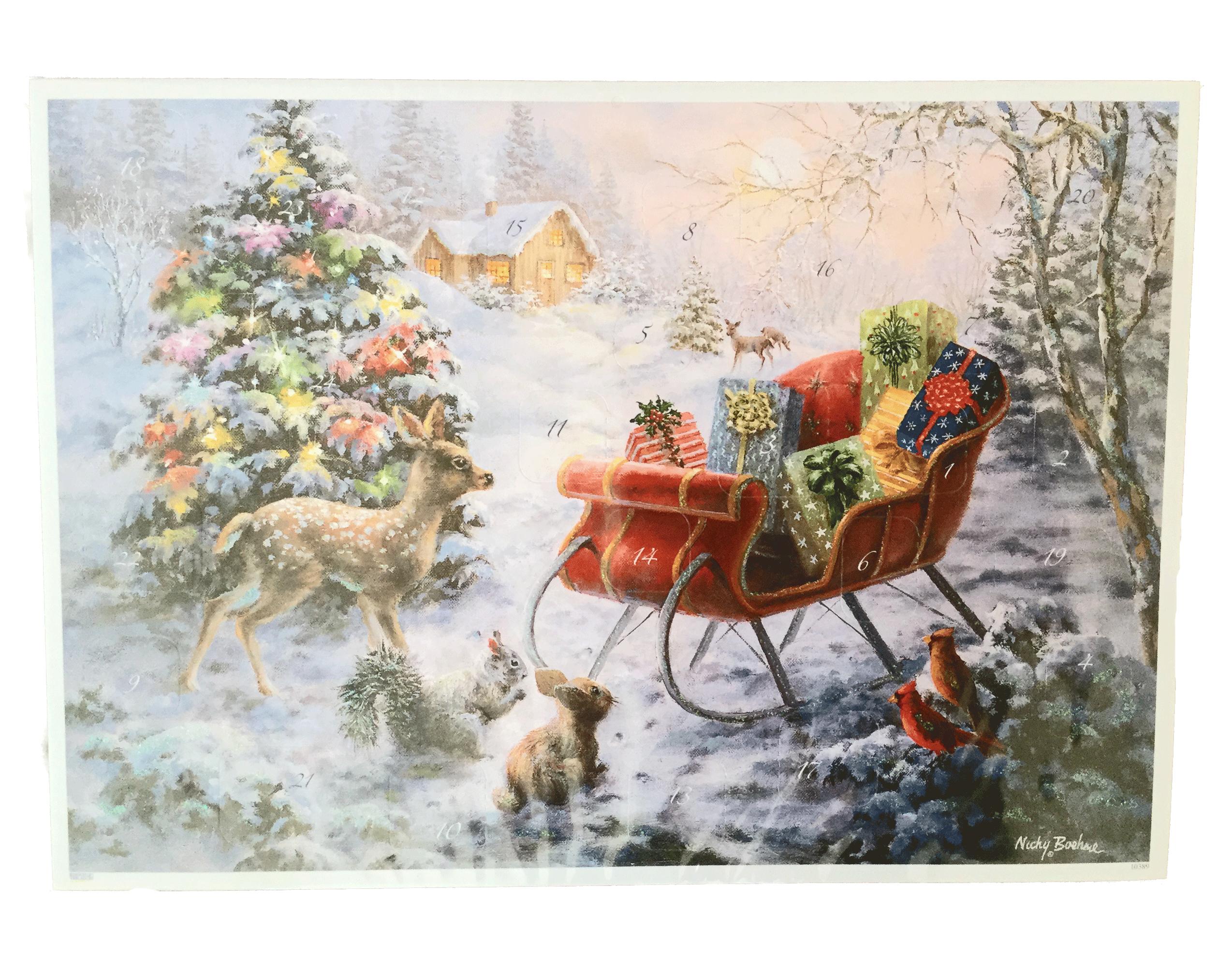 julkalender med glitter