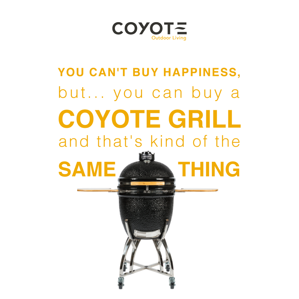 Find your happiness with a new Coyote grill. | Asado Cooker | Pinterest