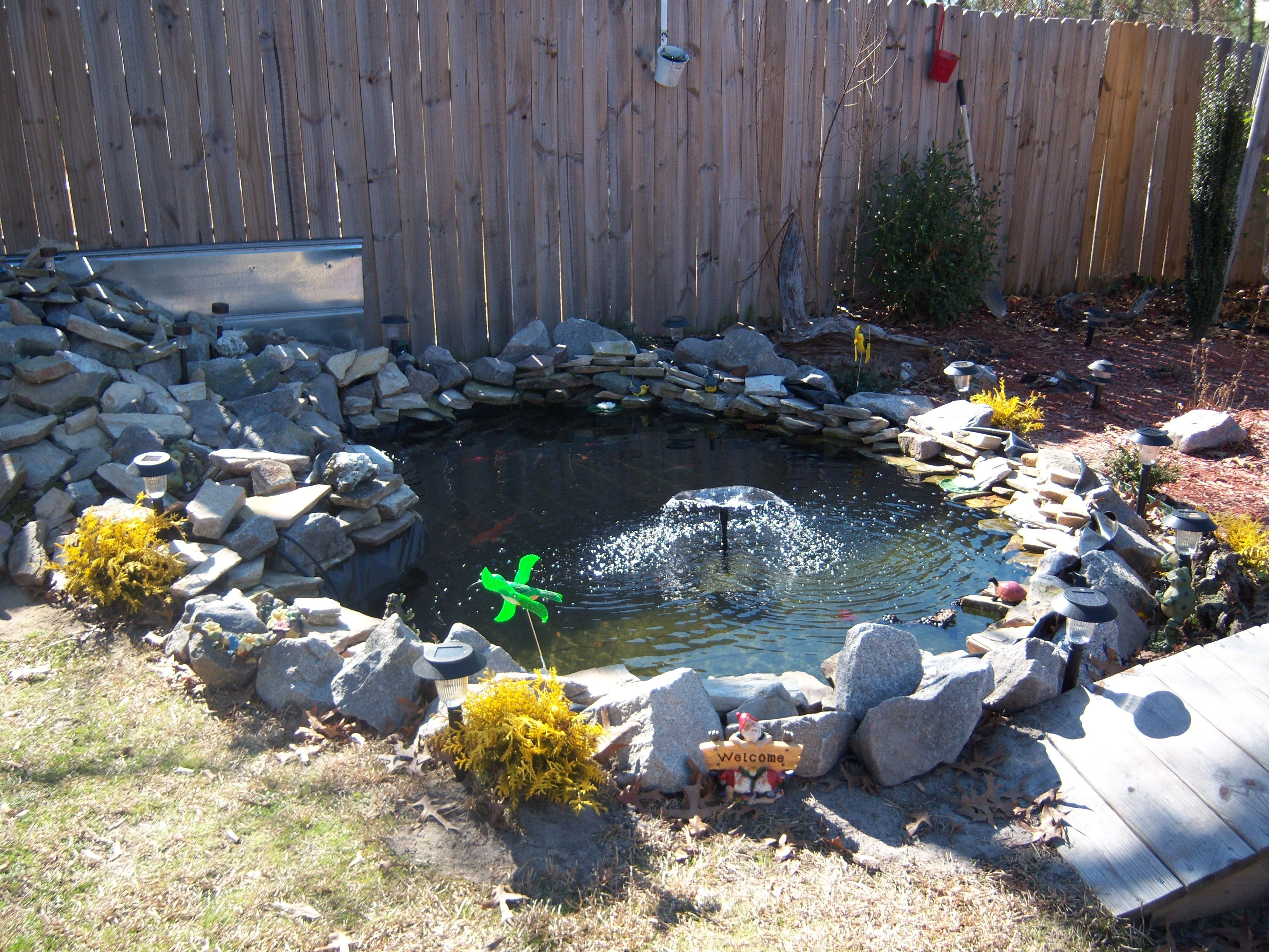 design and build your own pond the dirt from the hole makes a