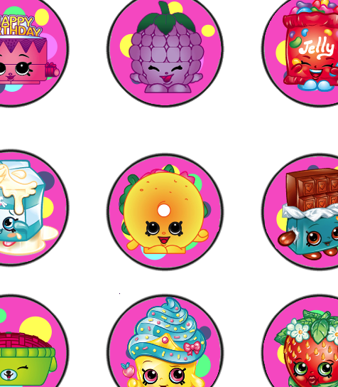 Shopkins Birthday Banner Shopkins Party Banner: Download The PDF Birthday Banner HERE Alphabet Letters For