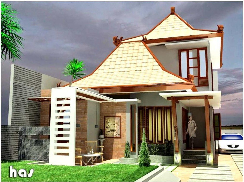 Desain Rumah Kampung Jawa Modern Minimalis Pesonarumah