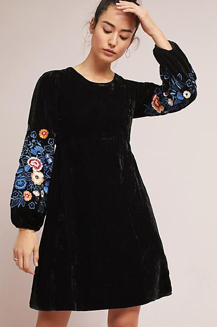 b8bc63e46304 Seen Worn Kept Michie Embroidered Velvet Dress #ad #AnthroFave  #AnthroRegistry Anthropologie