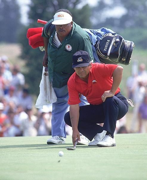 Lee Trevino and Herman Mitchell, 1986 U.S. Open | Famous ...