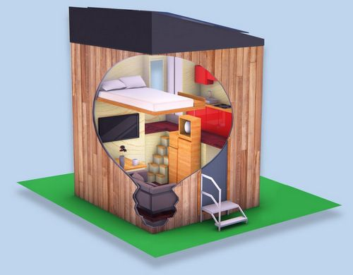 Cube Micro House Micro House Tiny Cabin House Design