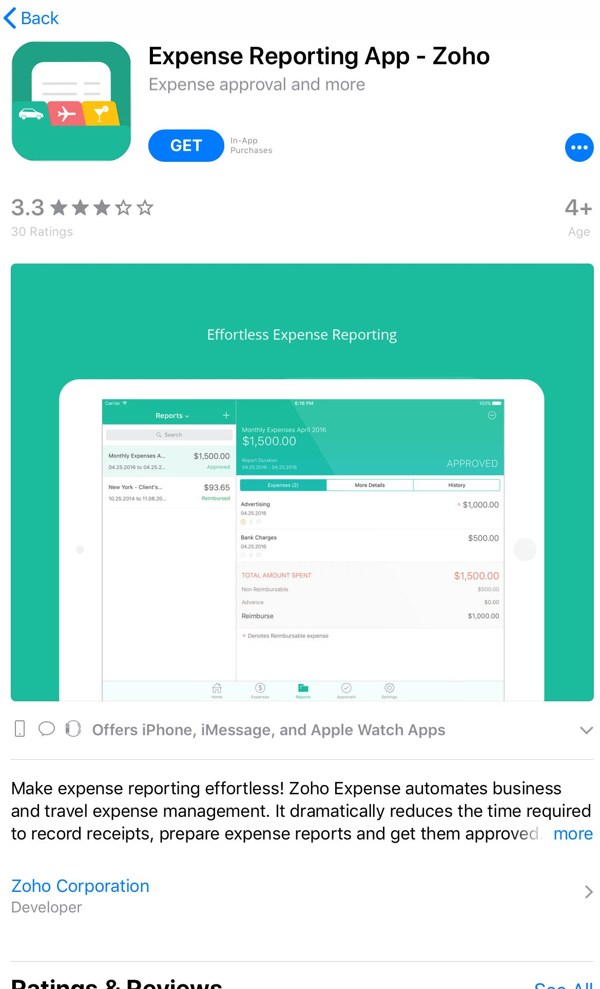 zoho expense reporting app personal expense tracker pinterest