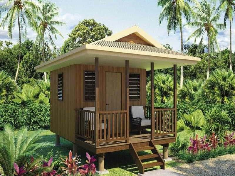 Small Tiny Bungalow House Model A67: Modern Wooden House, Small House