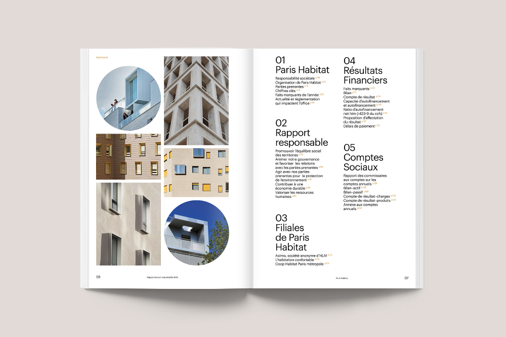 Paris Habitat Annual Report on Behance #annualreports