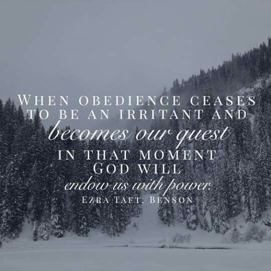 When obedience ceases to be an air tank and becomes our quest in that moment God will and endow with power