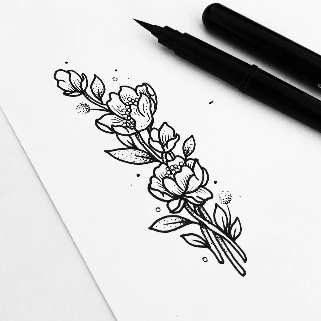 картинки черной ручкой простые маленькие для тату
