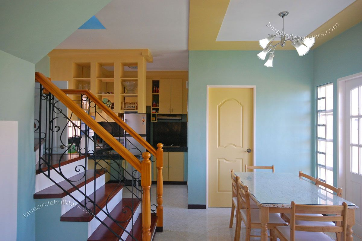 Bon Nice Tiny House Interior Design With Blue Wall Color And Cool Staircase Idea