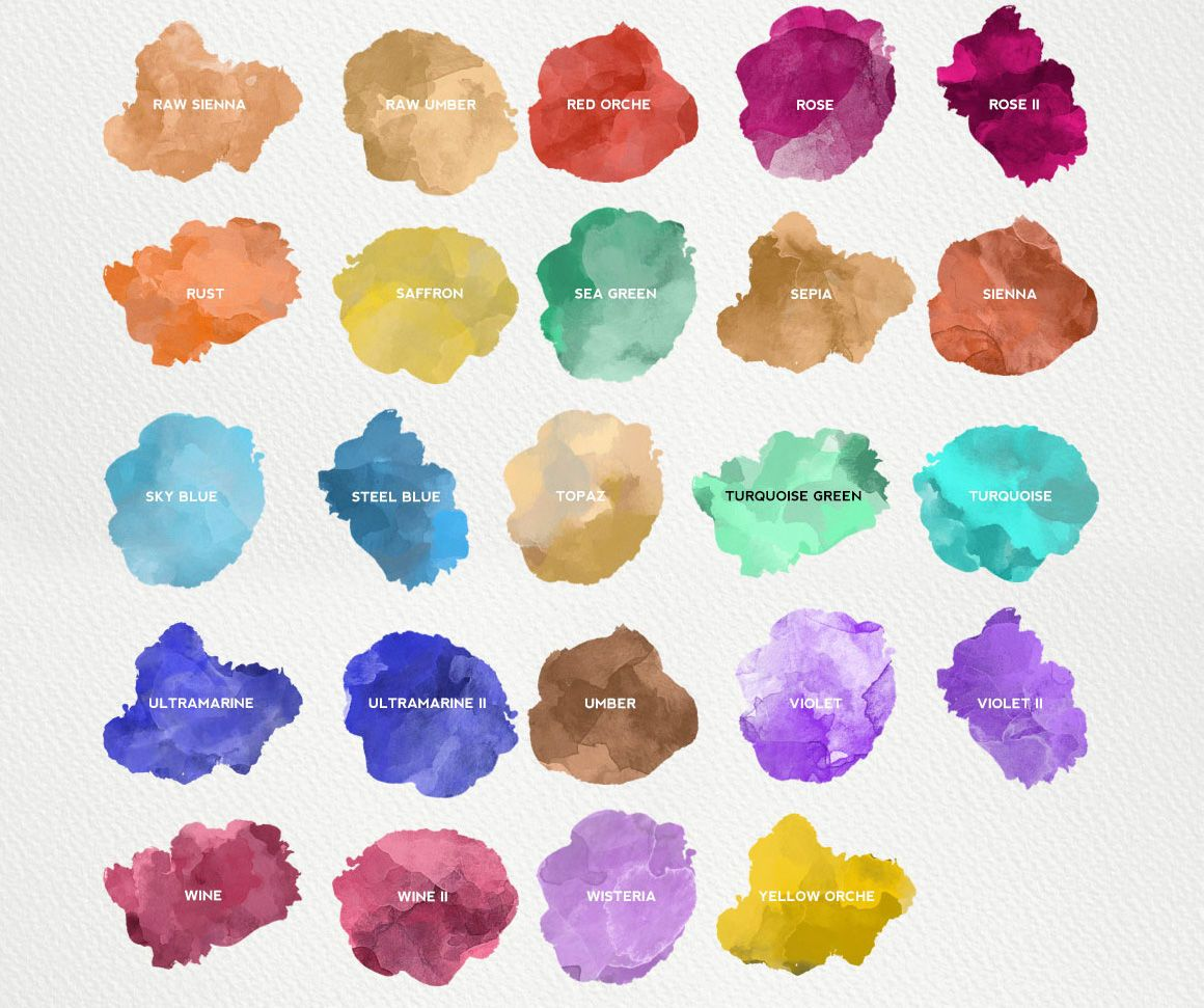 Download Watercolor Kit For Illustrator Add Ons By Ivanrosenberg