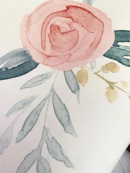 Watercolor Roses Wallpaper Coral Joanna Gaines Coral Wallpaper Rose Wallpaper Magnolia Homes