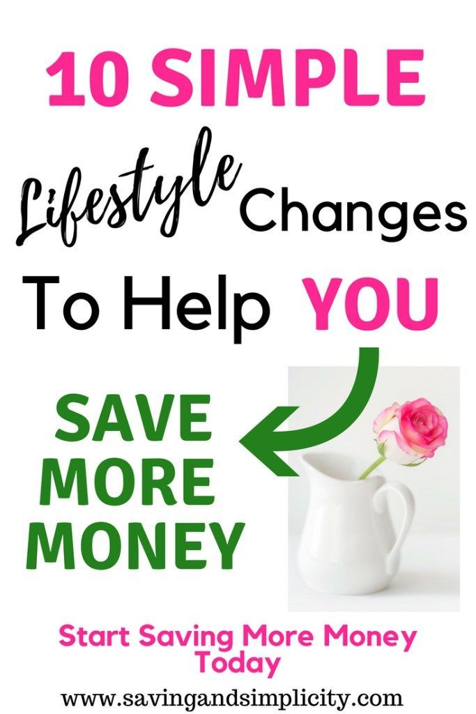 10 simple lifestyle changes to make, to save more money. Simple, easy changes you can make to your day to help you save money and live frugally. #savemoney #frugal #lifestyle #simple