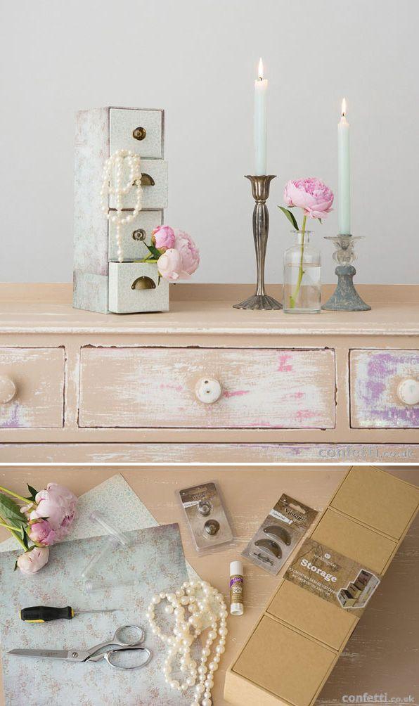 DIY Vintage Draws   Vintage Wedding Accessories   Vintage Wedding Decor   Vintage Prop   Confetti.co.uk