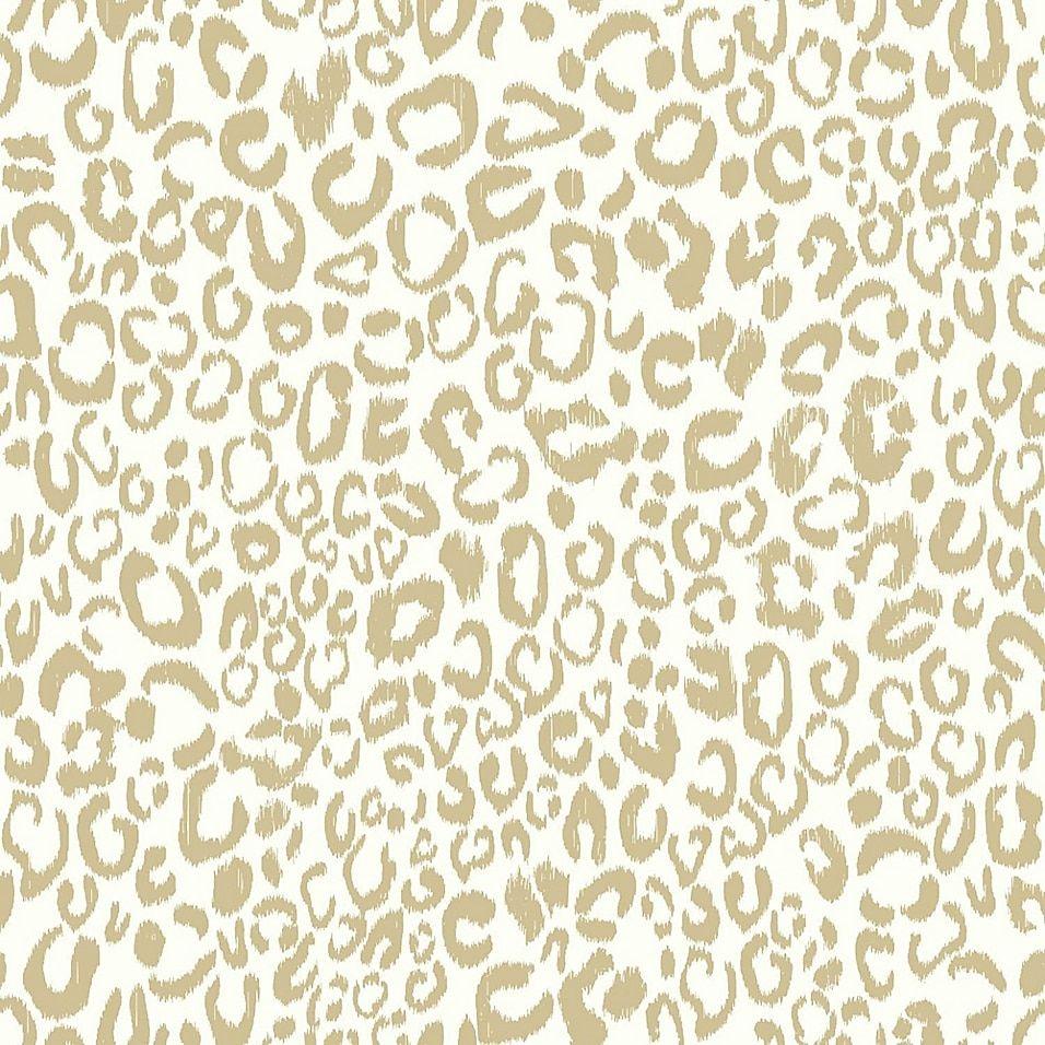 Roommates Leopard Peel Stick Wallpaper In Gold Bed Bath Beyond Leopard Print Wallpaper Cheetah Print Wallpaper Peel And Stick Wallpaper