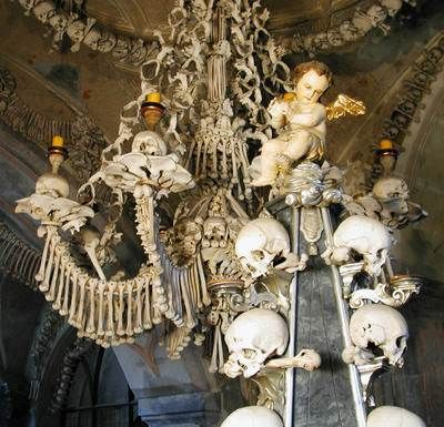 A chandelier of sedlec ossuary czech republic made of skulls and a chandelier of sedlec ossuary czech republic made of skulls and bones mausoleums tombs and cemeteries pinterest sedlec ossuary czech republic aloadofball