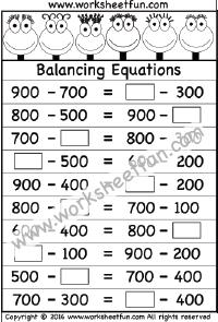 balancing equations one worksheet printable worksheets balancing equations algebra. Black Bedroom Furniture Sets. Home Design Ideas