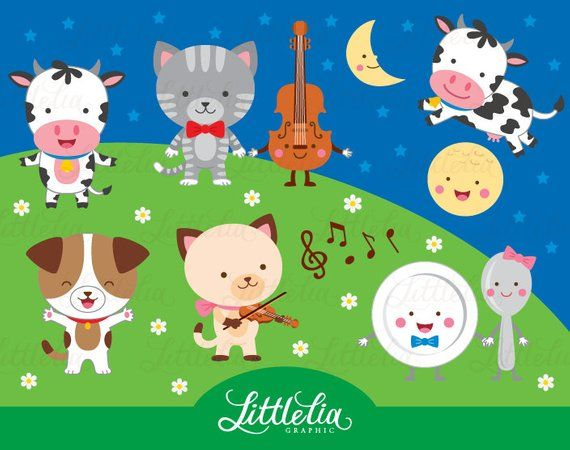 Hey Diddle Diddle Clipart Nursery Rhymes Clipart 15088