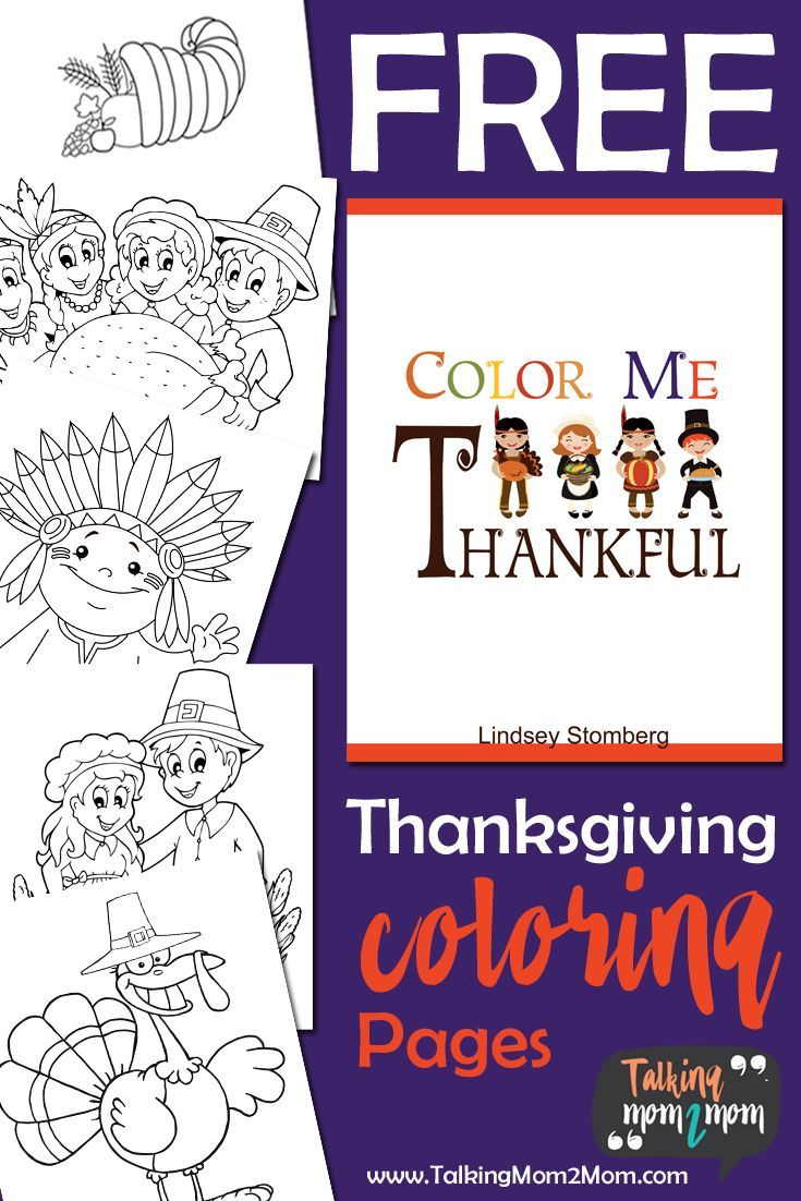 Color Me Thankful FREE Thanksgiving Themed Coloring Pages (FREEBIE ...