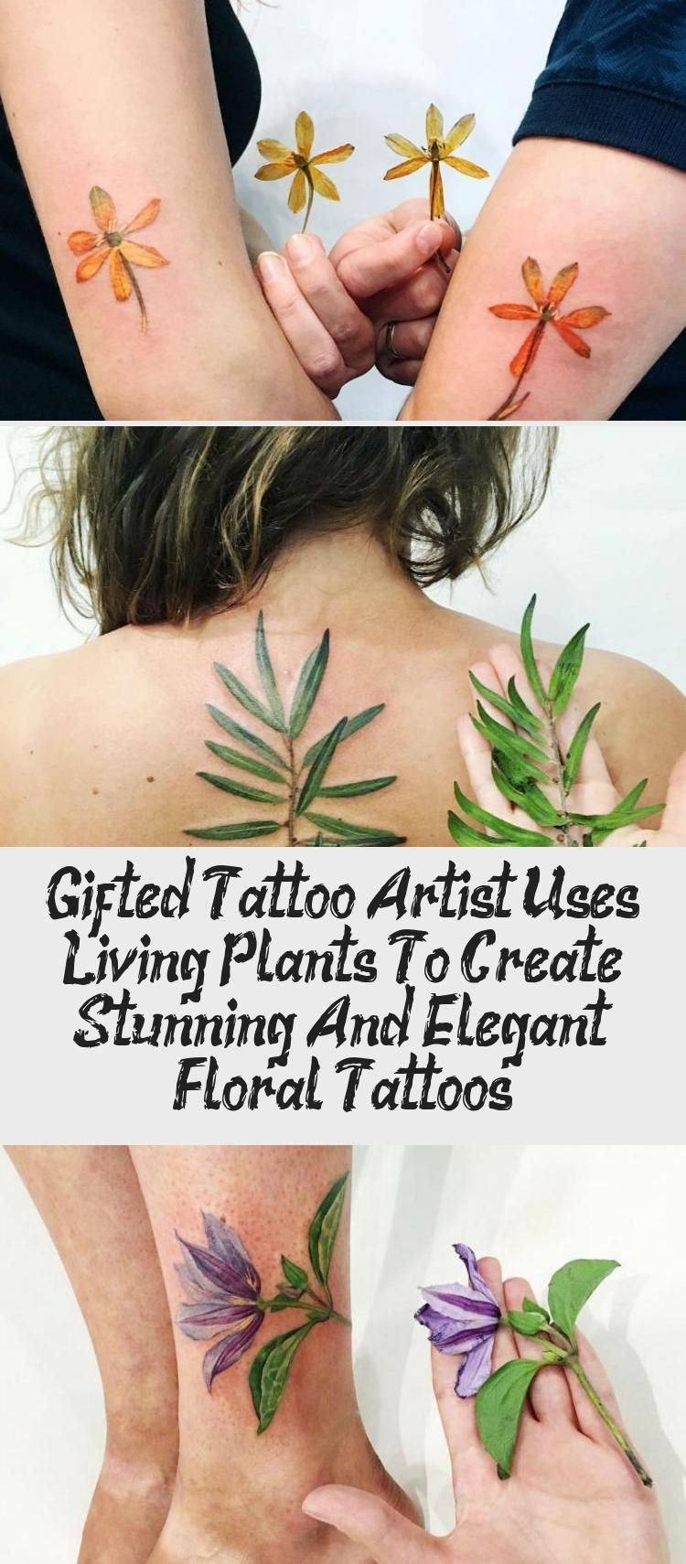 Photo of Gifted Tattoo Artist Uses Living Plants To Create Stunning And Elegant Floral Tattoos – Best Tattoos