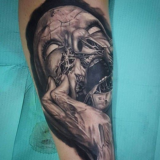45 Mesmerizing Surreal Tattoos That Are Wonderful: By Bryan Merck @tattoocrazy123