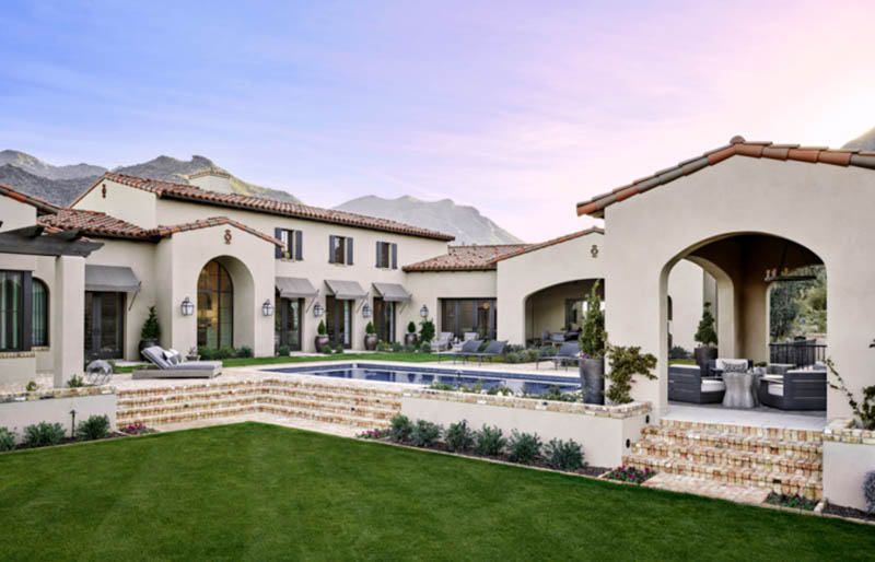 The Best Custom Home Builders In Arizona See How Much Every Project Costs Mediterranean Homes Custom Home Builders Spanish Style Homes