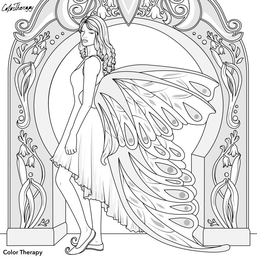 Pin By Renata On Color Therapy Before After In 2020 Coloring Pages Color Therapy Barbie Coloring