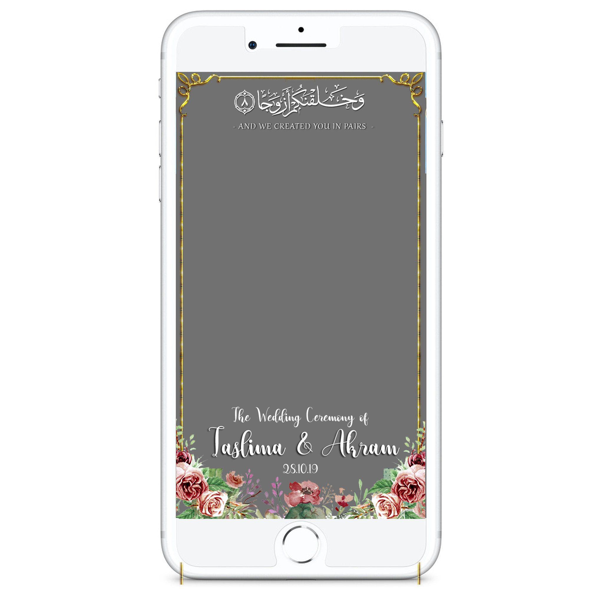 Custom Wedding Mendhi Walima Nikkah Snapchat Filter Etsy Snapchat Filter Design Wedding Snapchat Snapchat Filters