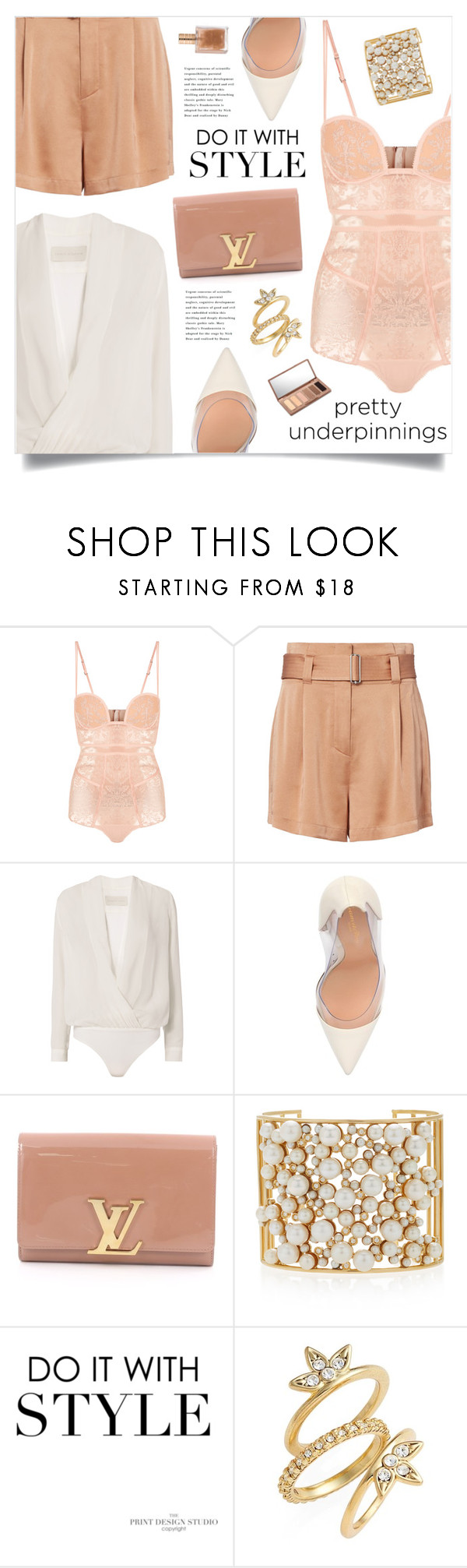 """Do It With Style"" by marina-volaric ❤ liked on Polyvore featuring La Perla, A.L.C., Michelle Mason, Gianvito Rossi, Louis Vuitton, Nancy Newberg, Luv Aj, Urban Decay and prettyunderpinnings"