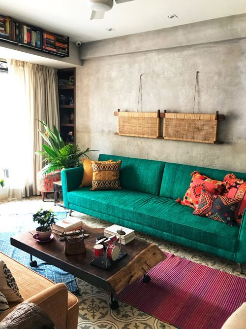 The thakurs  colorful home is an ode to rich fabrics and patterned floors also best dream house images in living room tv unit rh pinterest