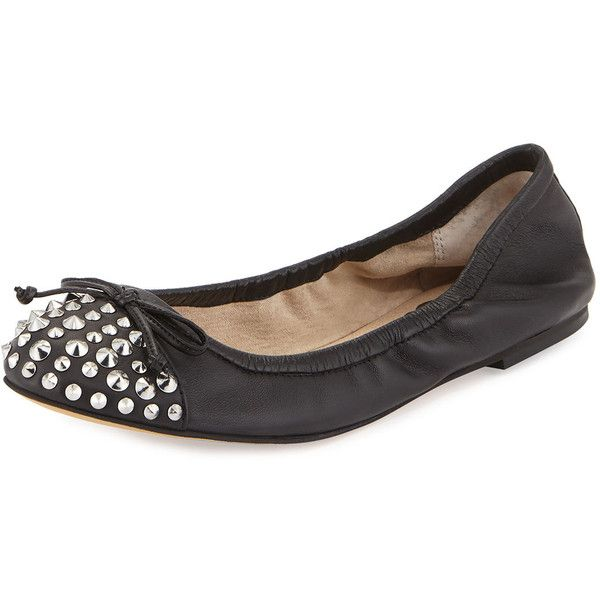d56ead2bcd98 Sam Edelman Bari Studded Bow Flat ( 59) ❤ liked on Polyvore featuring shoes