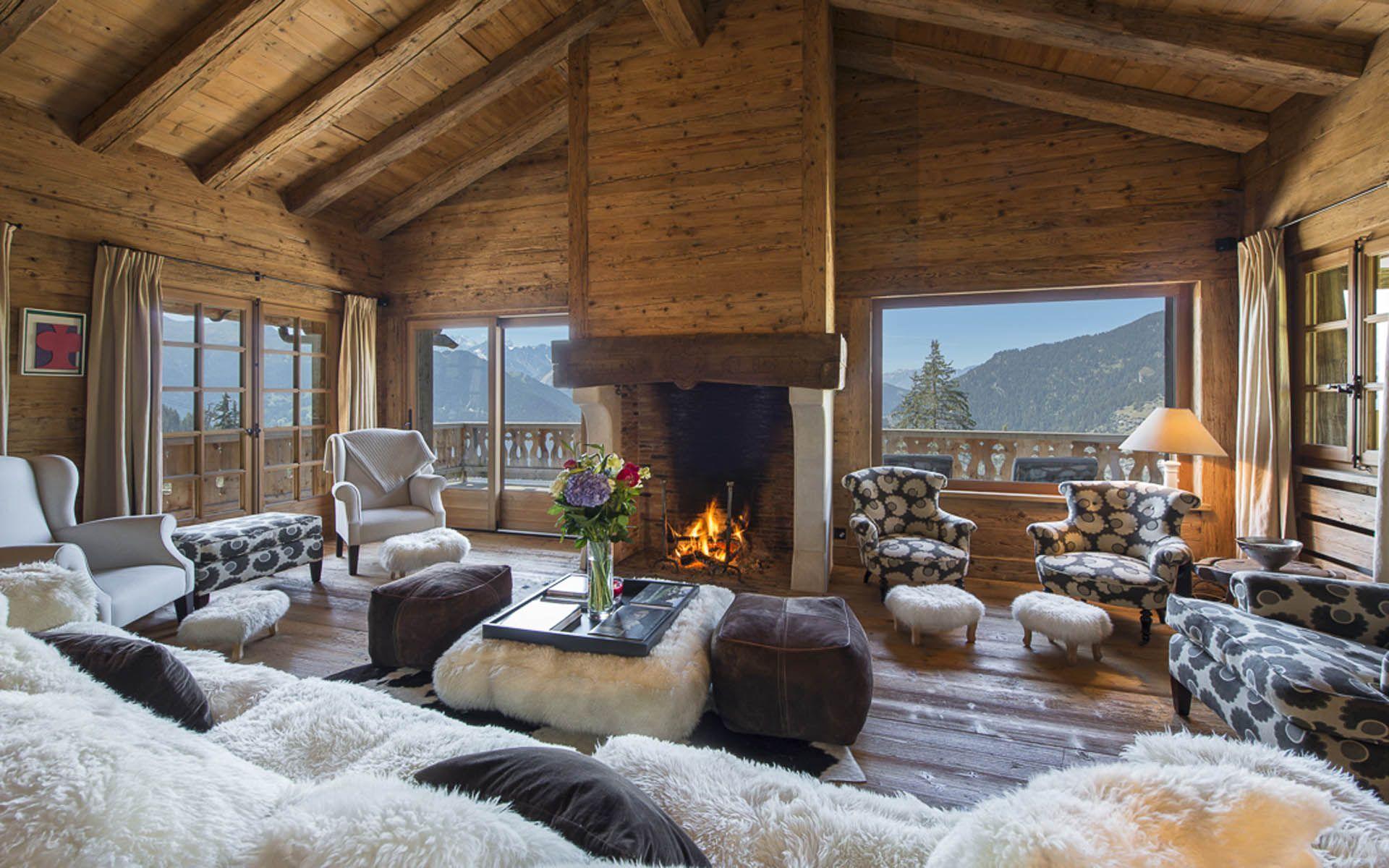 Luxury ski chalet chalet tesseln verbier switzerland