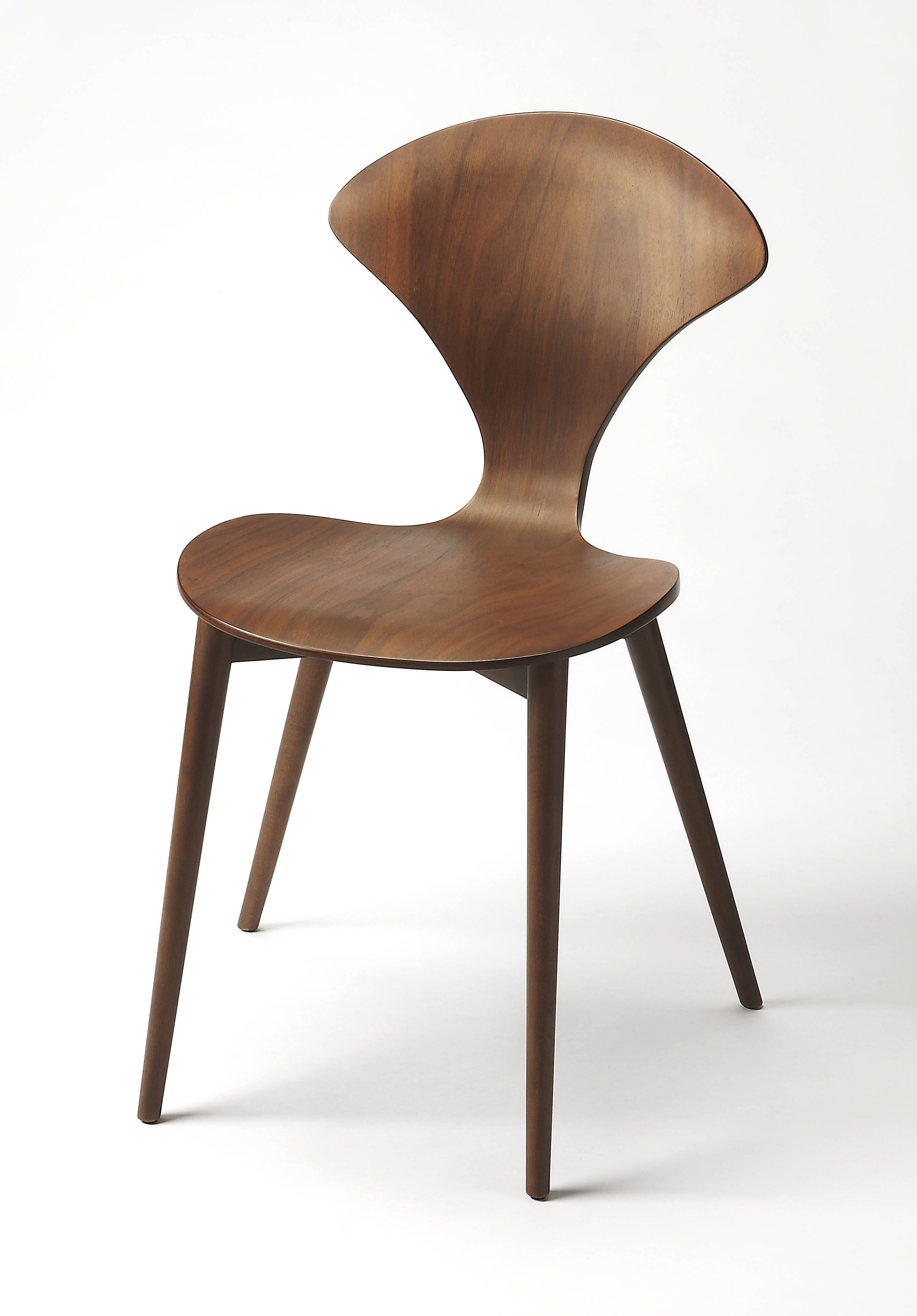 Butler loft metropolitan dark brown bentwood rubberwood side chair
