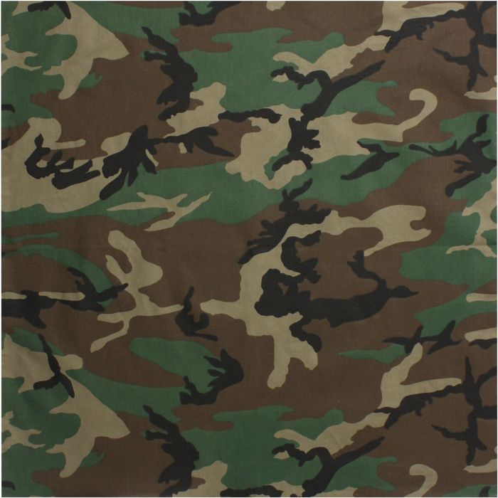 Woodland Camo Bandana Jumbo Army Surplus Warehouse Woodland Camo Camo Patterns Camouflage Bandana