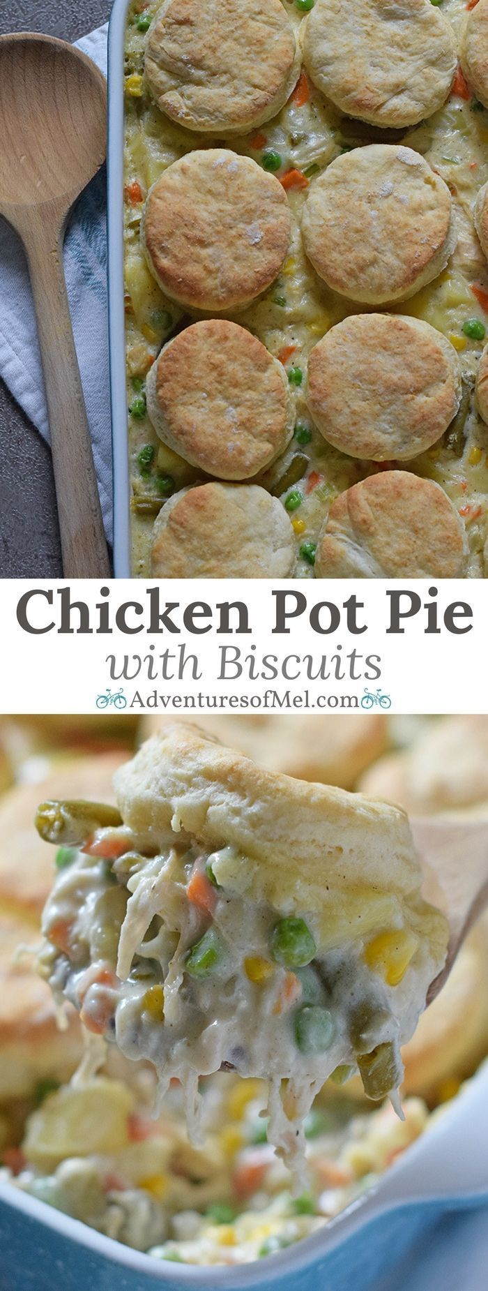 Chicken pot pie with biscuits recipe food dinners pot pies and sage chicken pot pie with grandmas biscuits filled with a medley of vegetables in a creamy forumfinder Images