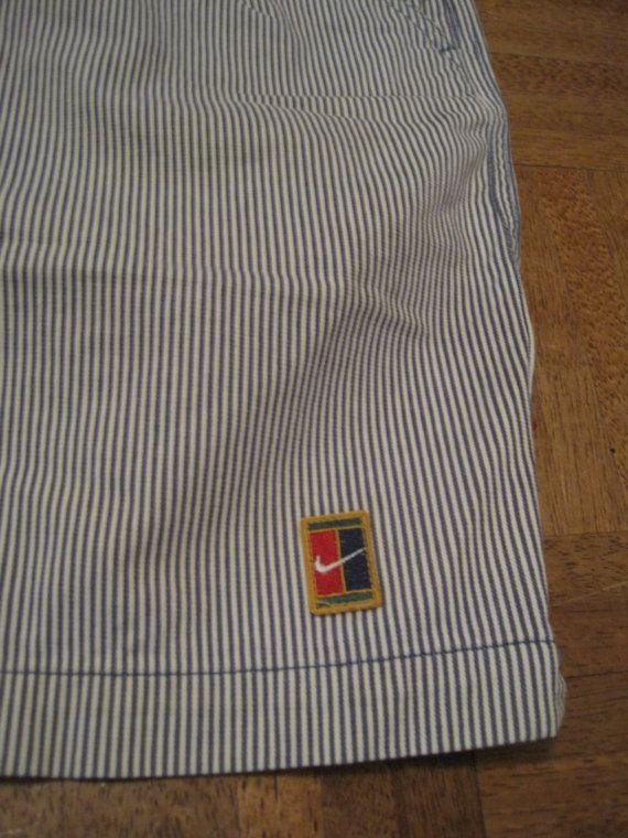Vintage Nike Golf Shorts Pinstripe Blue White By Danny8fizz 25 00 Vintage Nike Vintage Tennis Pinstripe